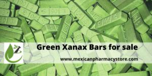 Green Xanax bars sale